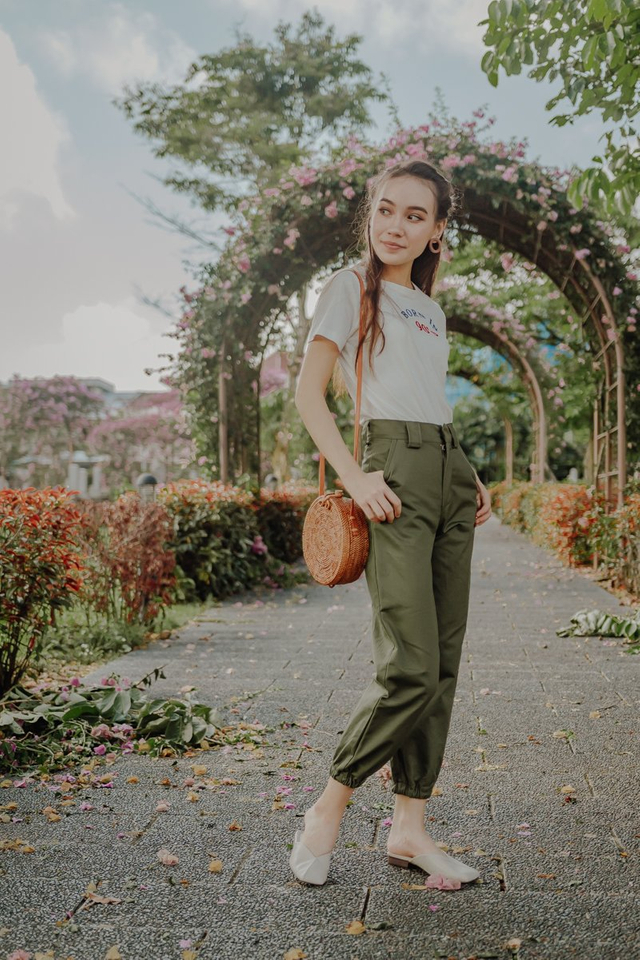MILLY CARGO PANTS (OLIVE)