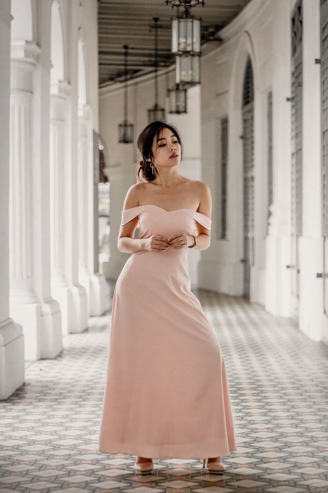 HARMONY MAXI DRESS (BLUSH PINK)