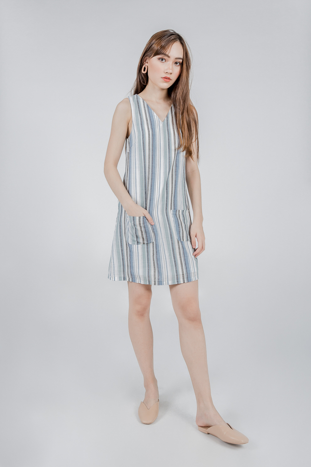 STRIPES LINEN DRESS