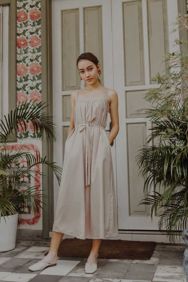 BERLIN SPAG MAXI DRESS (KHAKI)