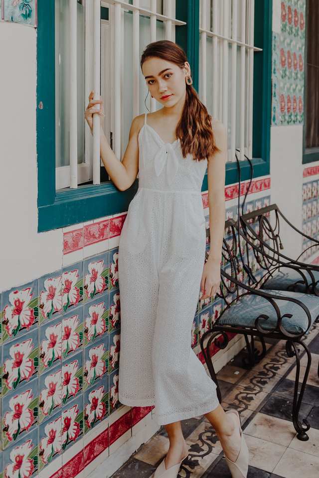 MEYSON KNOTTED JUMPSUIT (EYELET)