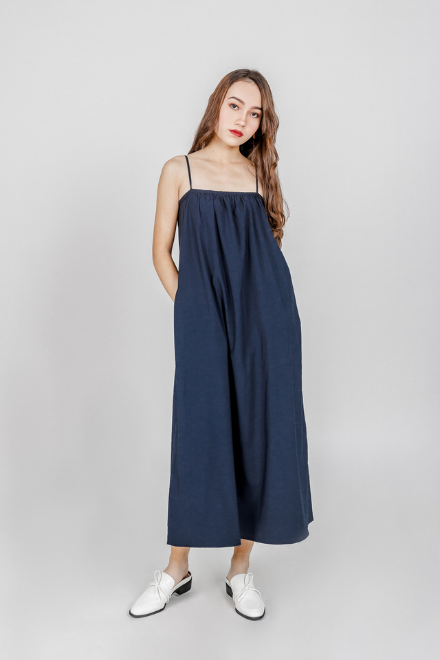 BERLIN SPAG MAXI DRESS (NAVY)
