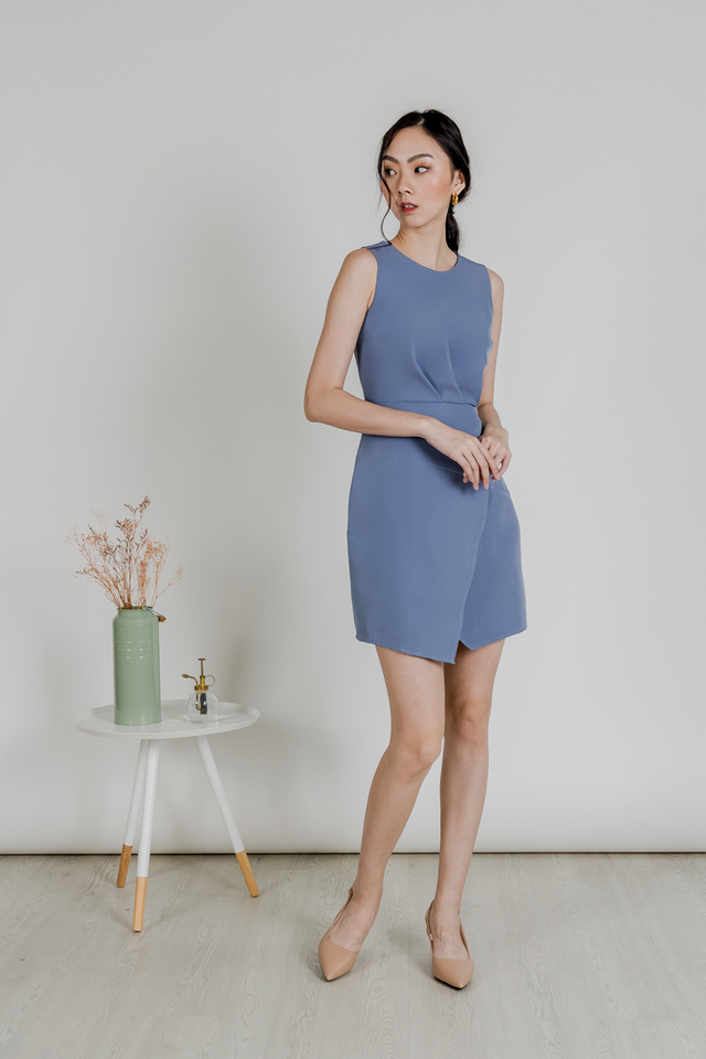 ELISA WORK DRESS (BLUE)