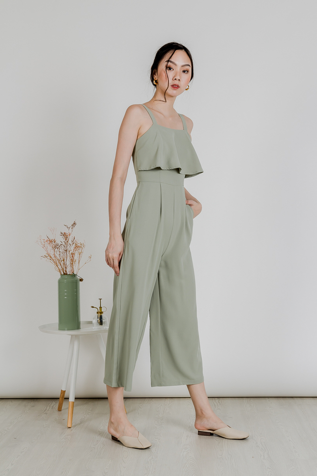 TERES FLARE JUMPSUIT (SAGE GREEN)