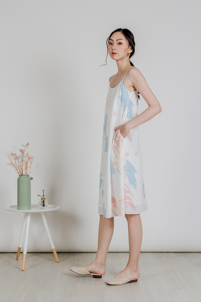 ABSTRACT TENT DRESS (SKY)
