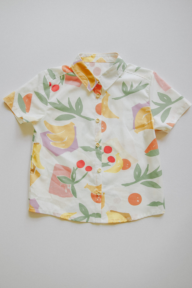 FRUITS PRINT TEE (WHITE)