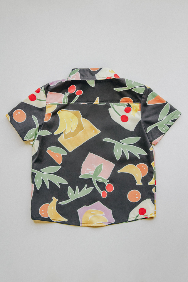 FRUITS PRINT TEE (BLACK)