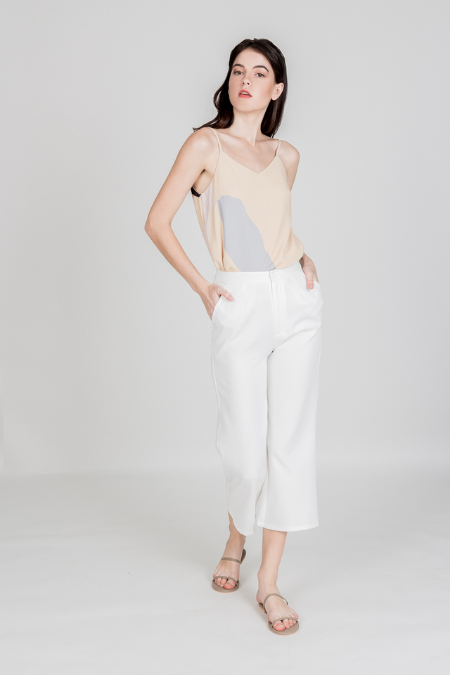 JOE MID WAIST PANTS (WHITE)