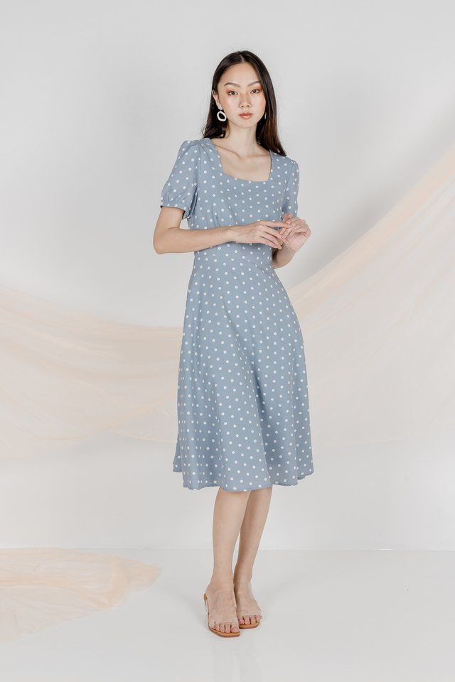 BEVERLY POLKADOT MIDI DRESS