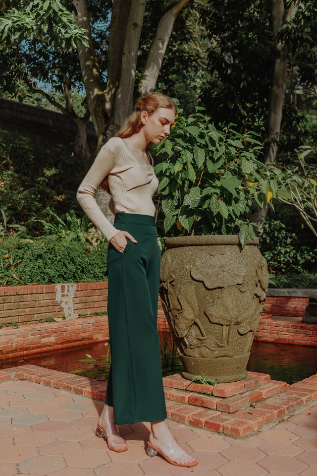 ALEX WIDE LEG PANTS (FOREST GREEN)