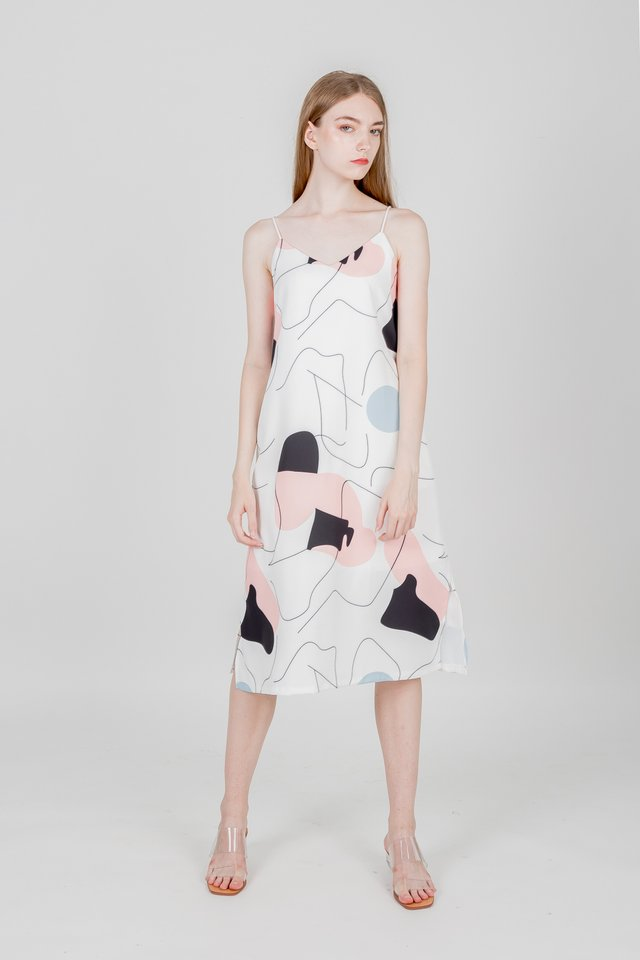 KAYLE REVERSIBLE SLIP DRESS (WHITE)