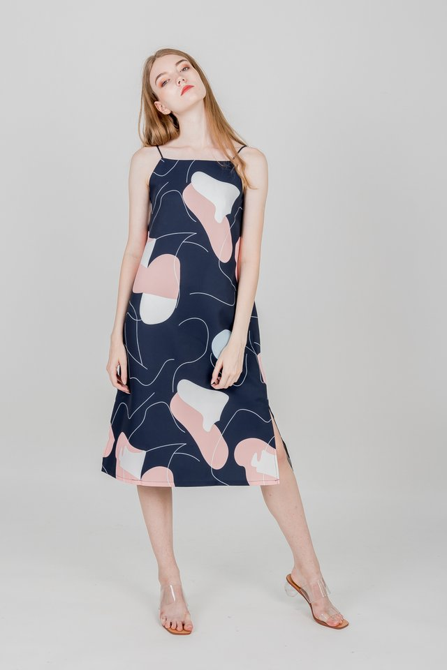 KAYLE REVERSIBLE SLIP DRESS (NAVY)