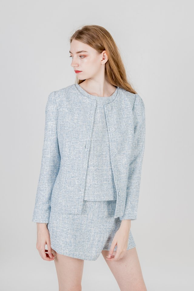 DANIA TWEED JACKET (BLUE)