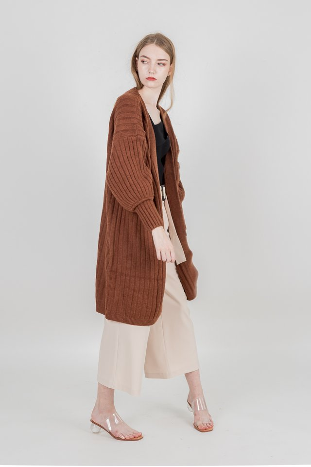 MADISON KNIT OUTERWEAR (CAMEL)