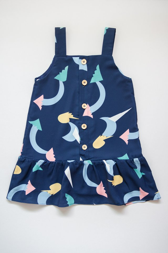LITTLE LEGONA DRESS (NAVY)