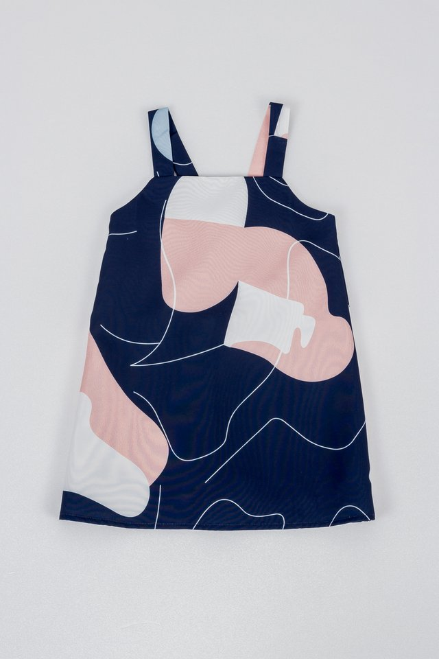 LITTLE KAYLE DRESS (NAVY)