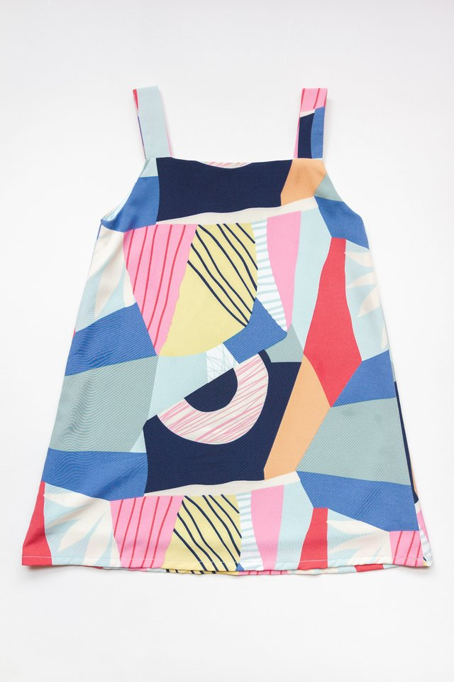 LITTLE KALA REVERSIBLE DRESS (BLUE)