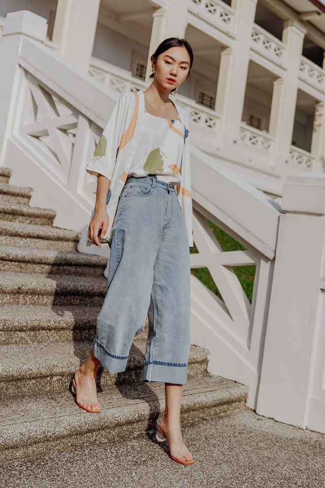 AMELIA DENIM CULOTTES (LIGHT WASH)