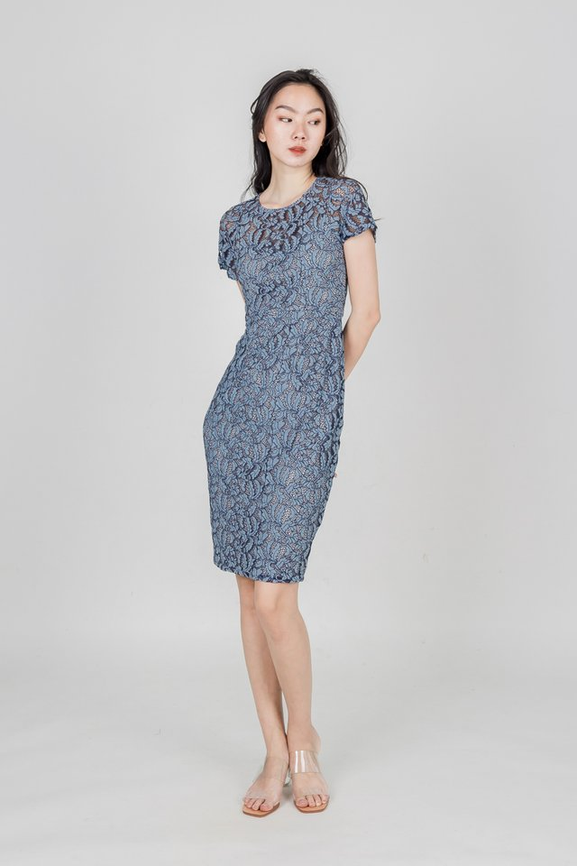 AMIA LACE DRESS (BLUE)