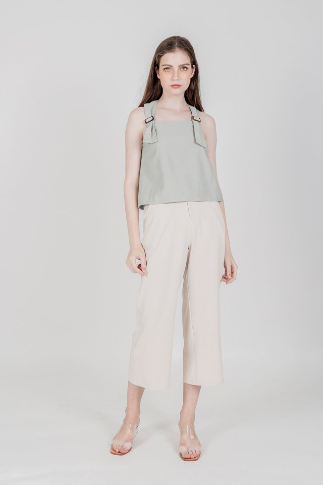 MELIA BUCKLE TOP (SAGE GREEN)
