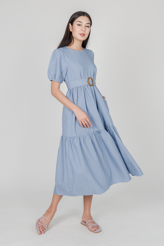 LOLITA TIED MAXI DRESS (BLUE)