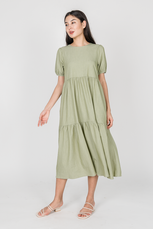 LOLITA TIED MAXI DRESS (GREEN)