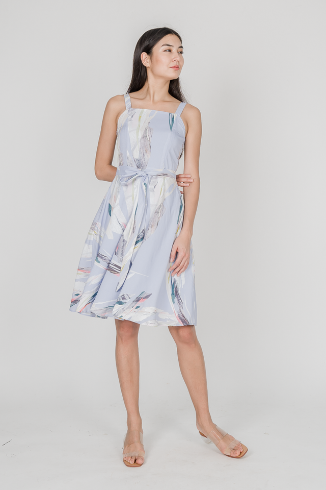 MERINA REVERSIBLE MIDI DRESS (BLUE)