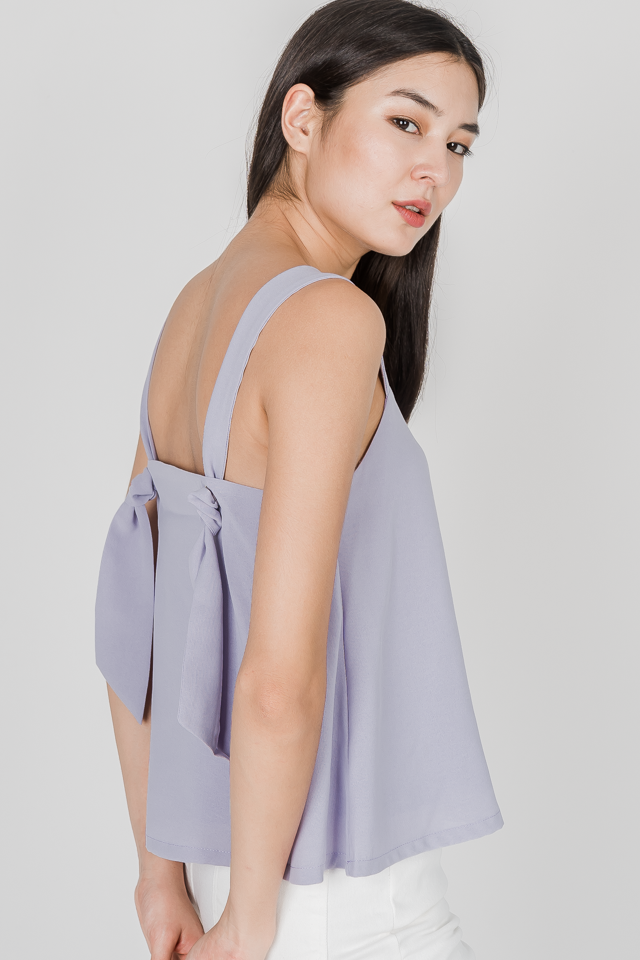 NATASHA KNOT BACK TOP (LILAC)