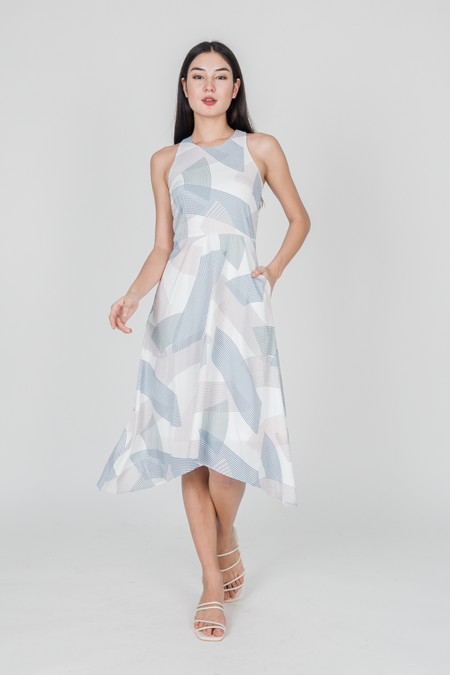 LATITUDE MIDI DRESS (BLUE)