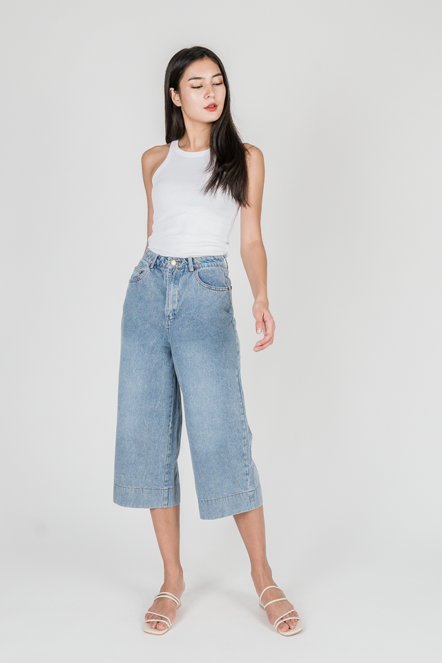 ARIN DENIM CULOTTES (LIGHT WASH)