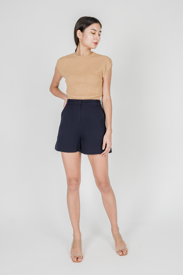 UNA BUTTONED SHORTS (NAVY)