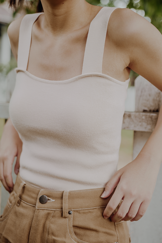 REI KNIT TOP (BEIGE)