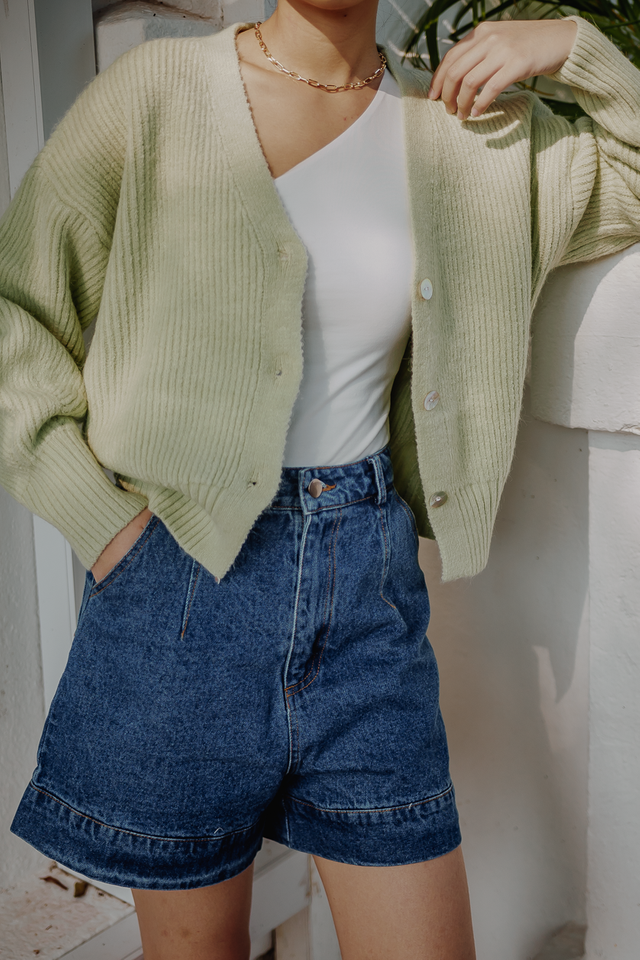 JEM KNIT CARDIGAN (APPLE GREEN)