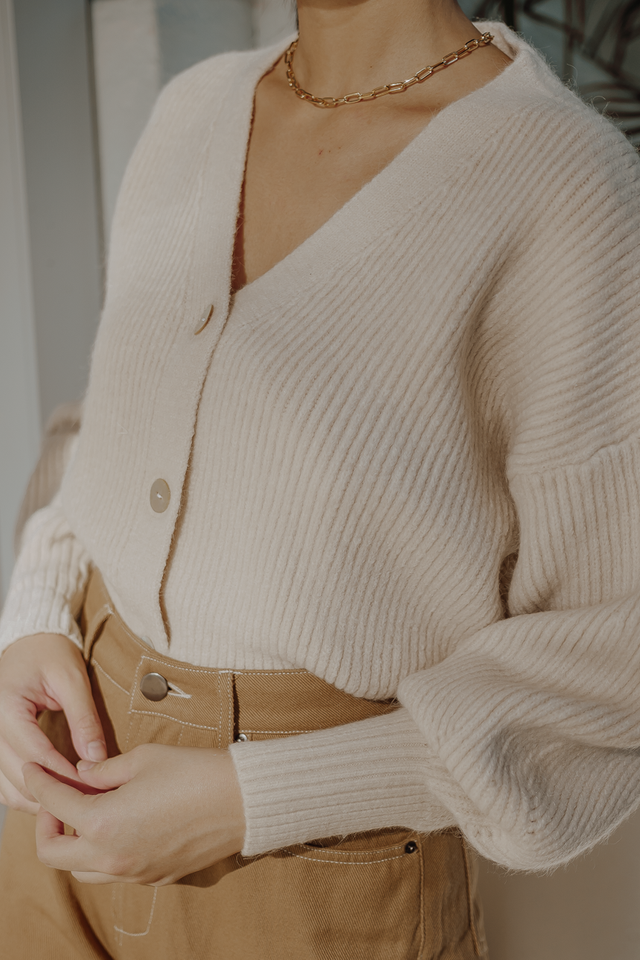 JEM KNIT CARDIGAN (CREAM)